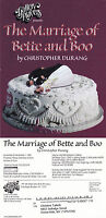 THE MARRIAGE OF BETTE & BOO - PLAY BY C DURANG ADVERTISING COLOUR POSTCARD