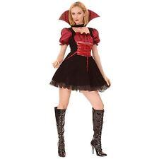 Ladies Women's Vampire Mistress Fancy Dress Costume Halloween Party Outfit