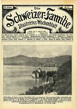 Schloss Chillon am Genfersee * Historische Aufnahmen 1909