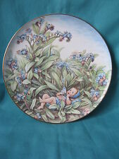 Forget-me-Not flower fairy plate Cicely Mary Barker A7905 Border china 19cm