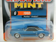 2018 RC 1:64  RACING CHAMPIONS MINT 4B = Blue & Black 1968 Pontiac Firebird  NIP