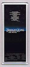 TWILIGHT ZONE - THE MOVIE movie poster LARGE 'WIDE' FRIDGE MAGNET -80's CLASSIC!