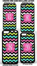 Monogram Chevron Phone Case Cover FOR iPHONE 4 4s 5 5S  BLUE PINK