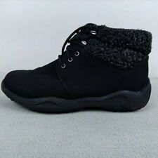 Propet Madison Lace Black Faux Fur Vaporex Women's Ankle Boots Sz 7.5 N AA W4413