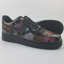 Nike Air Force 1 '07 LXX Low Black Floral Women's Size 8.5 Shoes AO1017-002