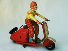 Göso Vespa Lambretta Scooter Tin Toy Very Rare !!!