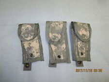 Lot of 3   Army ACU Digital Camo MOLLE II 9MM Single MAG Pistol Magazine Rangers