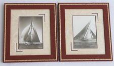 Décoration déco marine Lot 2 cadres corde mer photo vintage voile Neuf Beken