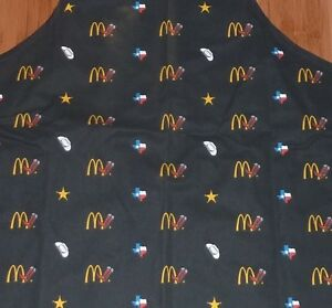 McDonald's Restaurant Apron ~ Texas Theme ~ New, Never Used