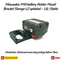 Milwaukee 18V M18 Dual battery Holder Mount Bracket Storage