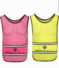 Ron Hill Hi Viz Vizion Running Bib Vest Men Womens one pink and one yellow.