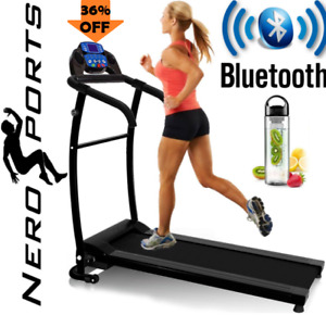 New BLUETOOTH NERO PRO TREADMILL Electric Motorised Folding Running Machine
