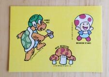1989 Nintendo Of America Tips Video Game Sticker Hammer Bros Magic Mushroom new