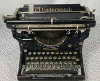 Working Antique Underwood No 5 Typewriter 1920 Carriage Strap Replaced