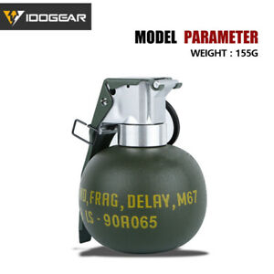 IDOGEAR Tactical M67 Grenade Body Model Dummy Frag Gren Quick Release Airsoft