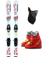 107cm HEAD BYS TYROLIA SKIS + BINDINGS + BOOTS 13-1 PACKAGE USED KID YOUTH +MASK