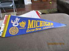 1979 Michigan Gator bowl full Size pennant bx2 em