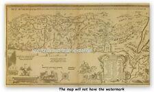 Mapa de tapa dura hebreo 1695 Israelita de liberación de Egipto a tierra prometida