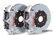 Brembo Front GT Brake 6Pot Caliper Silver 350x34 Type3 Slot Disc for STi 05-14
