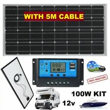 100W SOLAR PANEL + USB + 12 Volt CHARGE REGULATOR + 5M CABLE - SELF BUILD CAMPER