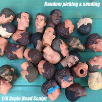 """2pcs 1:6 Scale Head Sculpt Male 1/6 Soldier Head Sculpture For 12"""" Action Figure"""