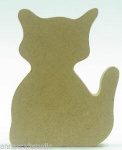 Cat small shape-Freestanding-Ready to decorate-Kids-Craft-Toy Box- MDF (S42)