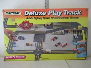Matchbox Deluxe Play Track Partial set in box 1993
