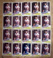 1985 - Topps #300 - Rod Carew Angels HOF - 20ct Card Lot