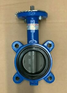 """3"""" Lug Butterfly Valve, 316SS Disc, Buna Seat 200 PSI W/ Handle (NEW)"""