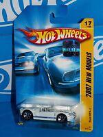 Hot Wheels Factory Set 2007 New Models #17 Ford GTX-1 White w/ Blue Stripes 5SPs