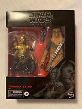 "Star Wars Black Series 6"" Chewbacca & C-3PO, Exclusive, New & Sealed"