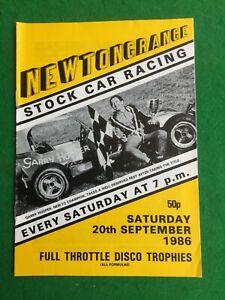 Stock car racing programme Newtongrange 20th September 1986