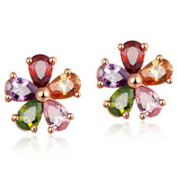 Trendy Charm Jewelry Gifts Multi Color Morganite Topaz Gemstone Women Earrings