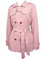 BNWOT M&S LADIES WOMENS PINK Belted Trench Coat - SIZE  10 12 14 16 18