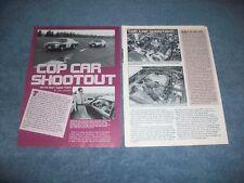 """1995 CHP Impala 9C1 & SSP Mustang LX 5.0 Vintage Info Article 'Cop Car Shootout"""""""