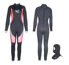 6mm Semidry Neoprene Ladies Scuba Diving Wetsuit  + Dive Hood