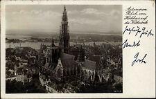 Antwerpen Belgien s/w Ansichtskarte 1938 Blick vom Hochhaus auf die Kathedrale