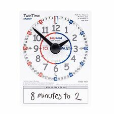 EasyRead TwinTime Clock Card for student. Double sided, 1 card only. ERSC-WO