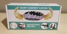 Baby Cabinet Locks 12 Pack, White