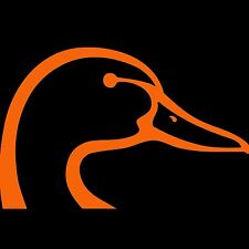 "Duck Head Sticker Browning Hunting Vinyl Decal Hunter Orange 5"""