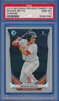 2014 Bowman Chrome Prospects #BCP109 Mookie Betts RC ROOKIE PSA 10 GEM MINT