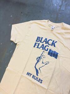 Black Flag My Rules T-shirt Size XL Never Worn Raymond Pettibon Punk