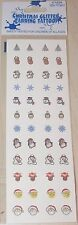NEW CHRISTMAS HOLIDAY GLITTER EARRING TATTOO SET 24 PCS. STICK ON EARRINGS