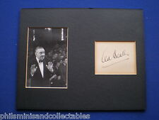 Ted Heath -  Big Band Leader -  signed and mounted signature