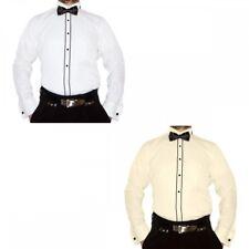Business Herren Smoking Hemd Slim Fit tailliert Manschettenknöpfe Fliege S16 Neu