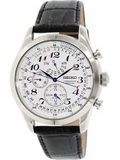 Seiko Men's SPC131 Silver Leather Quartz Fashion Watch