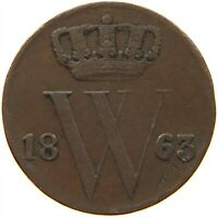 NETHERLANDS 1/2 CENT 1863 #s29 027