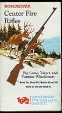 Rare Vintage 1972 Winchester Big Game Target & Varmint Rifle Fold-Out Brochure