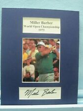 Saluting PGA Golf Great - Miller Barber 1973 World Open Champion & his autograph