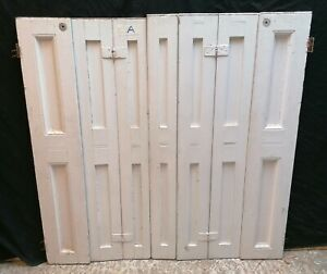 RECLAIMED PAINTED PINE SET OF 7 SHUTTERS - 2 SETS AVAIL -SOLD SEPARATLEY CS0044